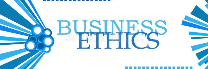水平商业道德蓝色的图表 库存例证