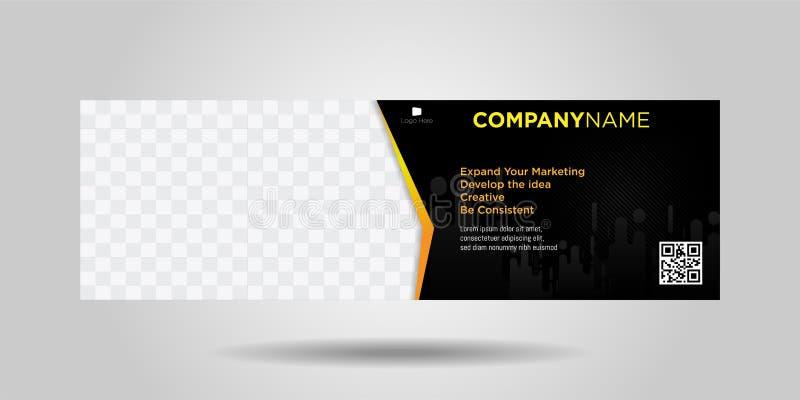 水平的企业横幅简单的现代设计06 向量例证