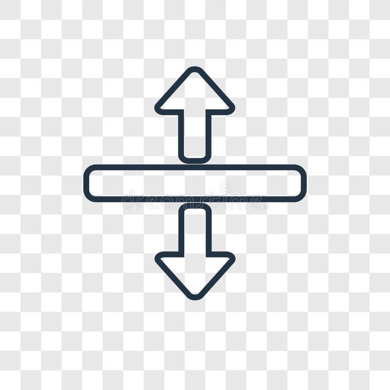 水平的分裂在transpar隔绝的概念传染媒介线性象 皇族释放例证