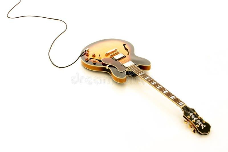 水平的吉他 免版税库存图片