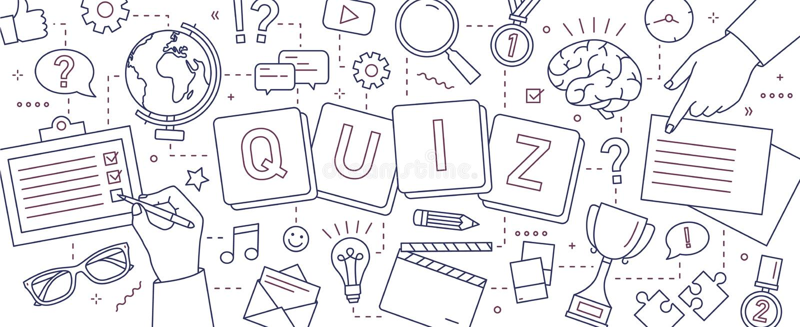 水平的横幅用解决难题,回答的测验问题的人的手,打棋对测试 库存例证