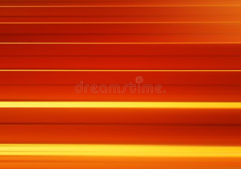 水平的橙色行动迷离盘区背景 库存例证