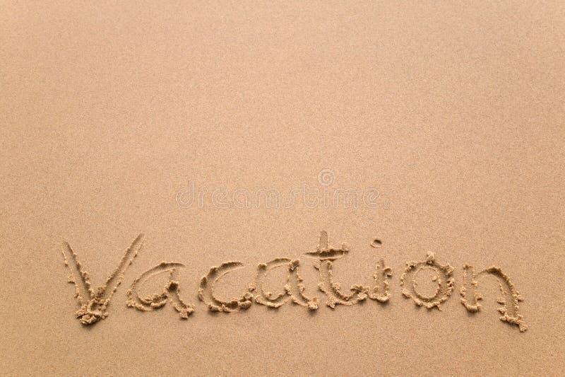 水平的沙子假期 免版税库存图片