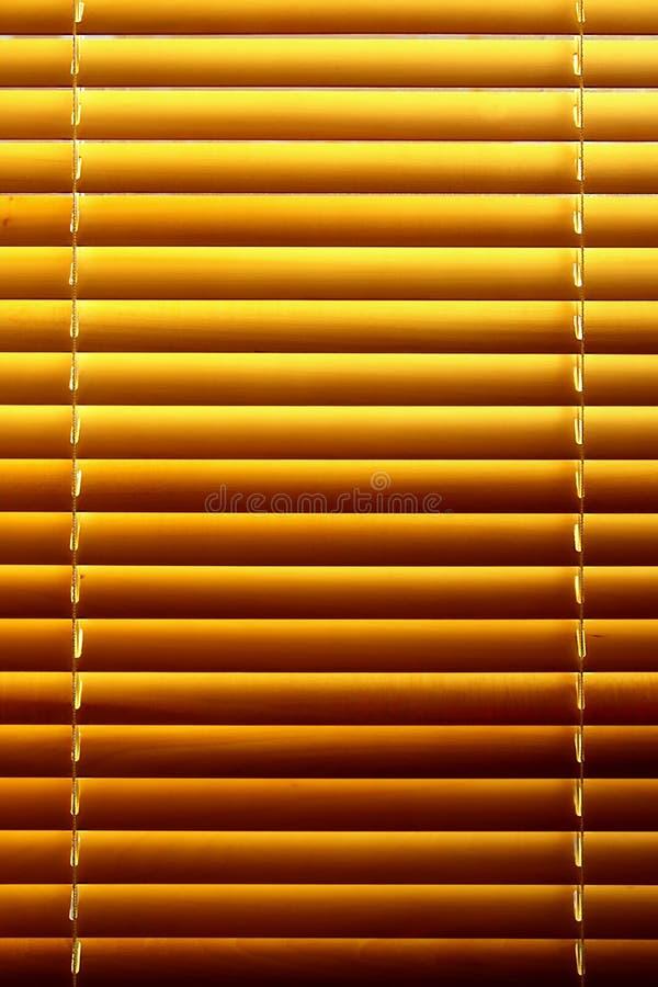 水平的百叶窗黄色 免版税图库摄影