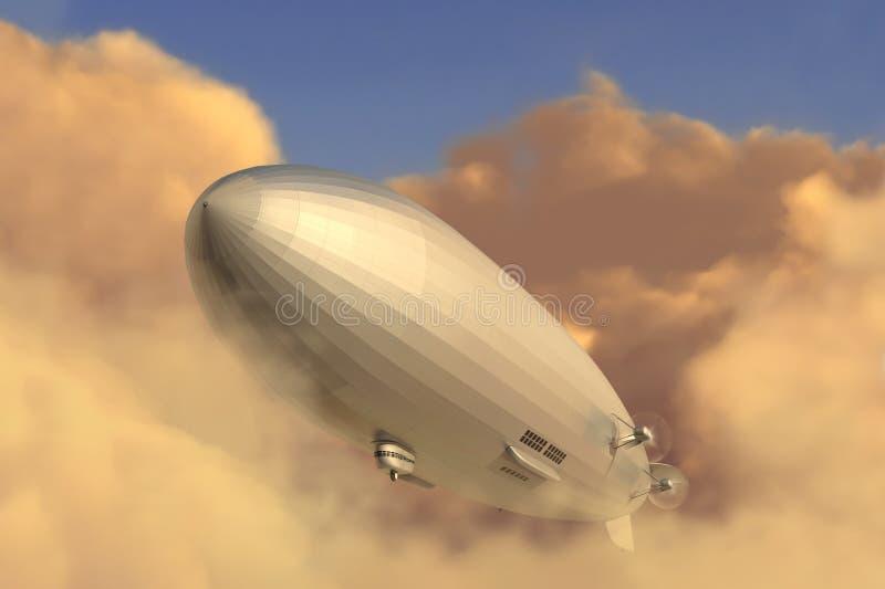 水平的策帕林飞艇 免版税库存照片