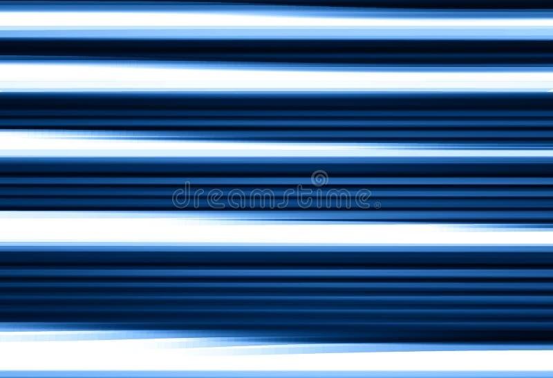 水平的蓝色行动迷离线背景 库存例证