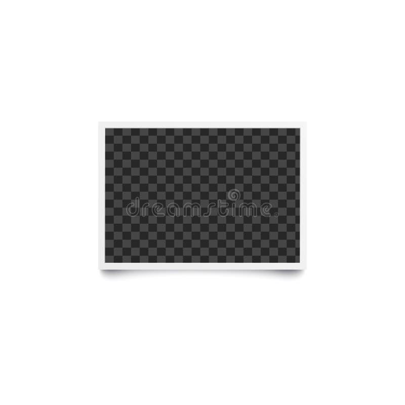 水平的长方形方格的空的模板和相框在现实样式 皇族释放例证