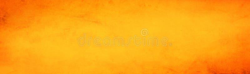 水平的黄色和橙色难看的东西纹理水泥或混凝土墙横幅,空白的背景 向量例证