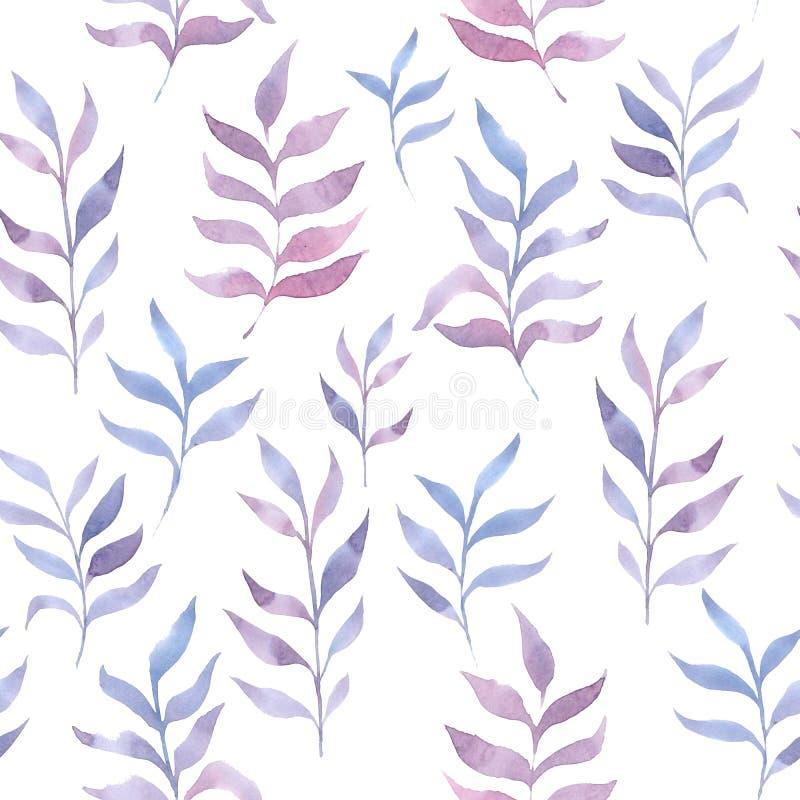 水彩光精美叶子样式 库存例证