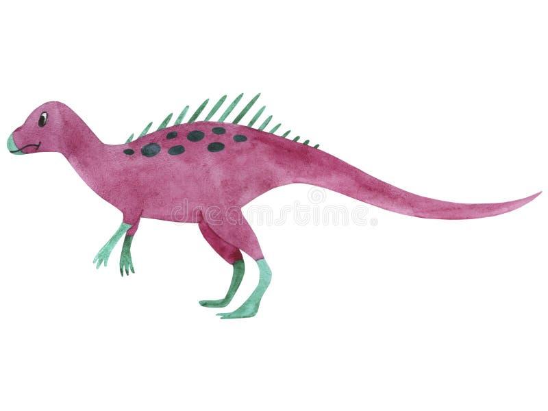 水彩恐龙 孩子的例证Lycorhinus 皇族释放例证
