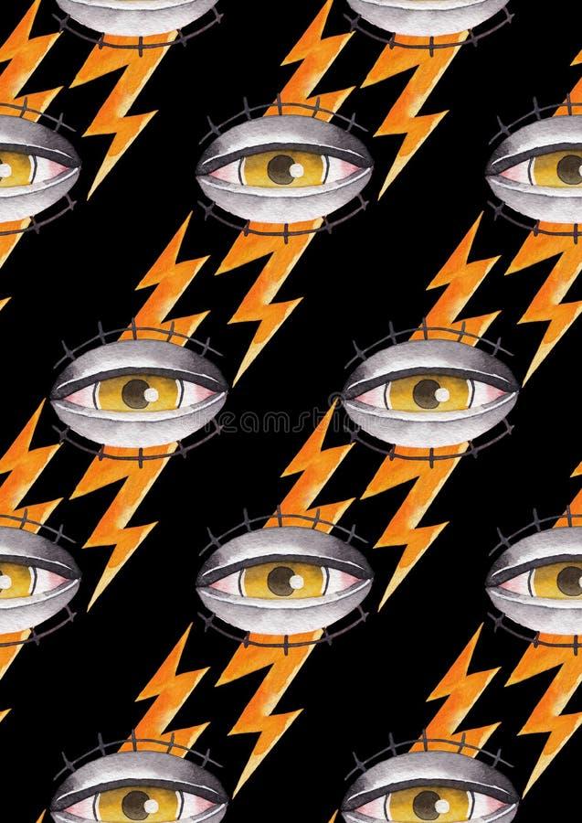 水彩所有看见的眼睛 皇族释放例证