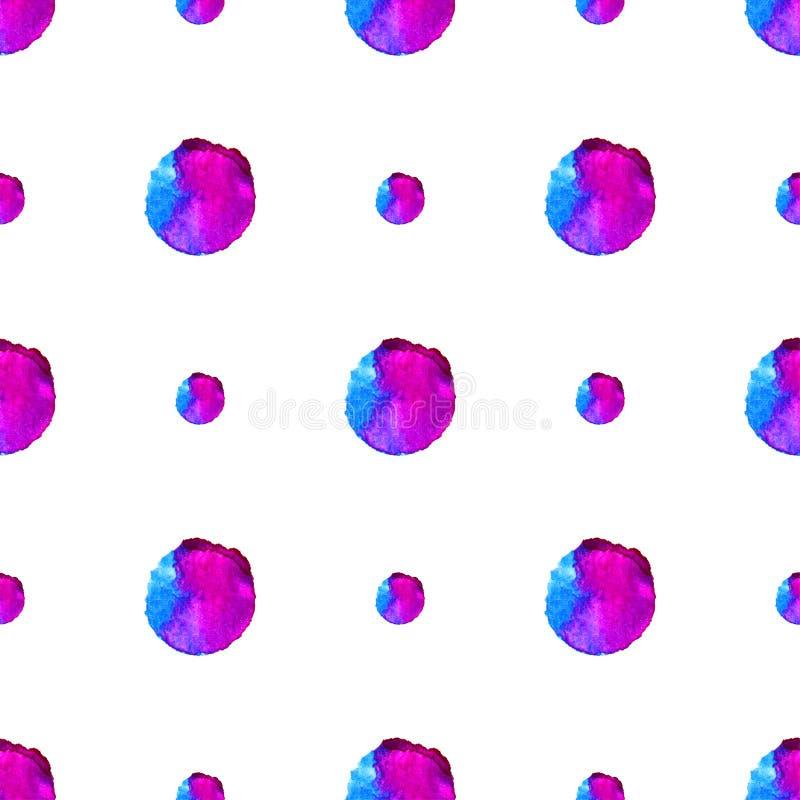 水彩抽象无缝的样式背景 名片的模板,横幅,海报,笔记本,邀请 向量例证