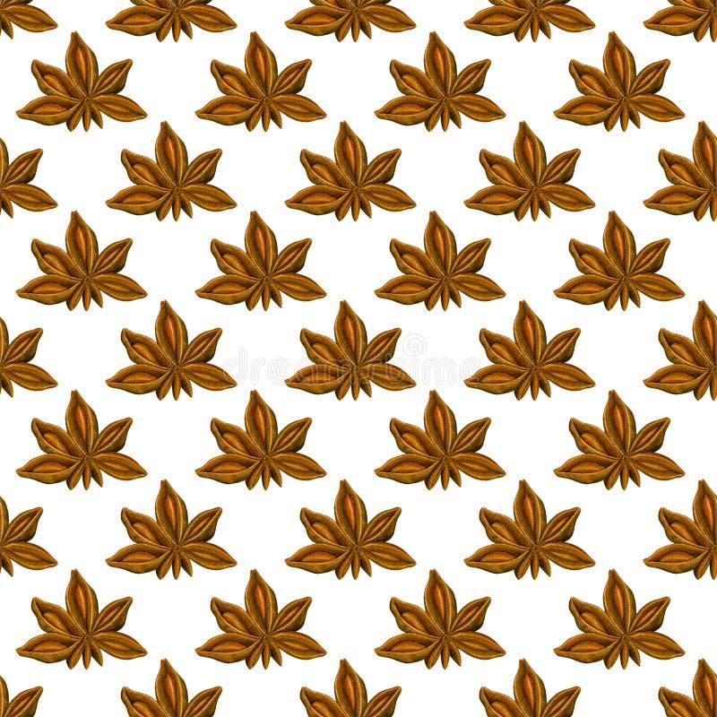 水彩无缝的样式用茴香 手拉的植物的设计 横幅的模板,海报,笔记本,邀请 皇族释放例证