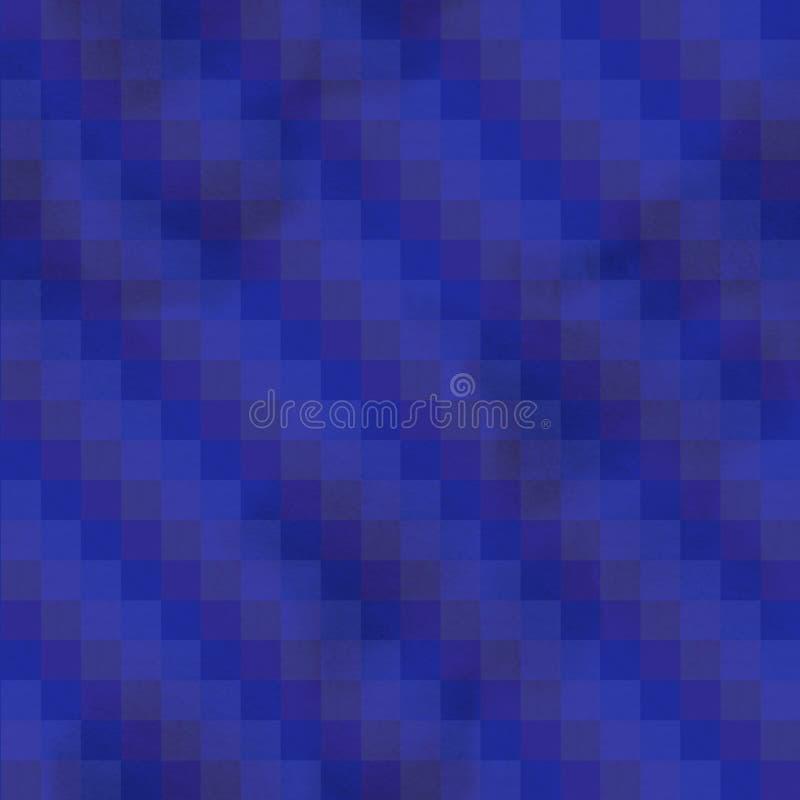 水彩无缝的样式 五颜六色的被绘的水彩一个个 库存例证