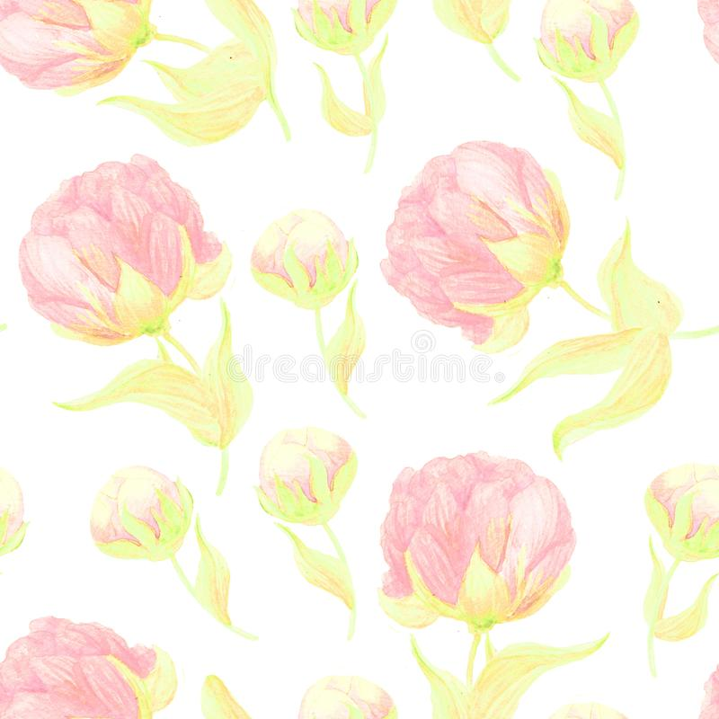 水彩无缝的花束 向量例证