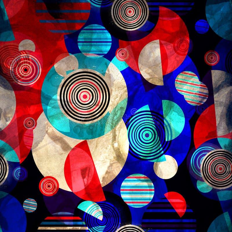 水彩显著地上色摘要几何超级背景 向量例证