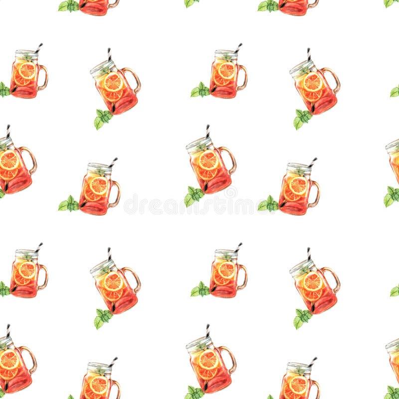 水彩果汁样式的例证 皇族释放例证