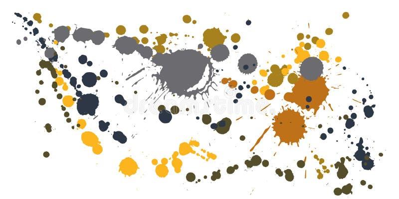 水彩油漆弄脏难看的东西背景传染媒介 向量例证