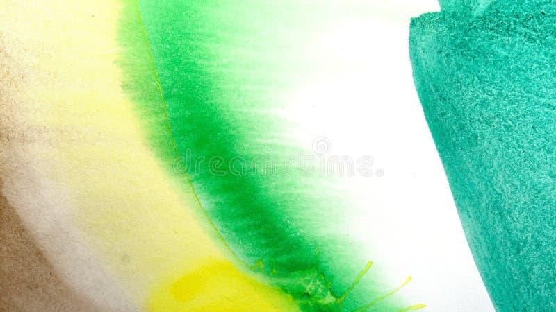 水彩滴水 抽象绘画 背景 库存例证