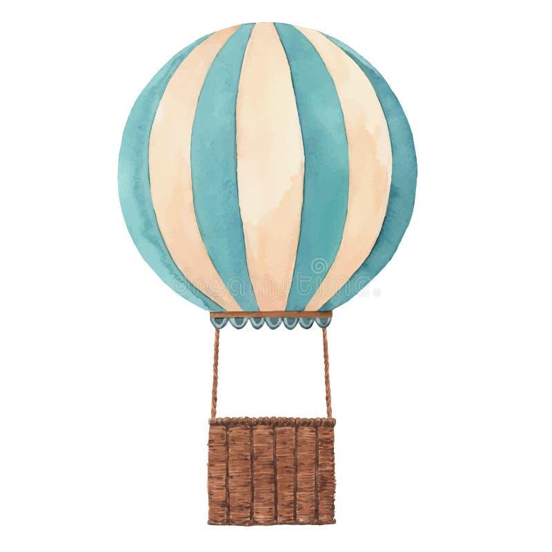 水彩空气baloon传染媒介例证 向量例证