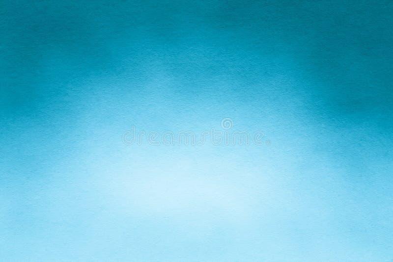 水彩纸纹理或背景柔和艺术品蓝色和白色的 免版税库存照片