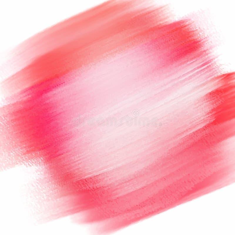 水彩纹理背景在桃红色树荫下  库存例证