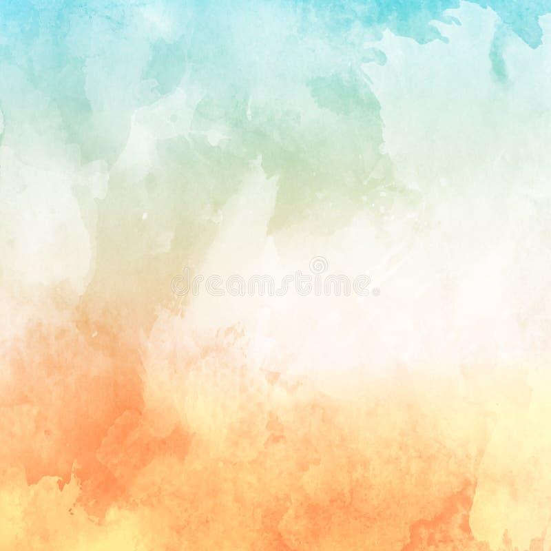 水彩纹理背景在轻淡优美的色彩下 库存例证