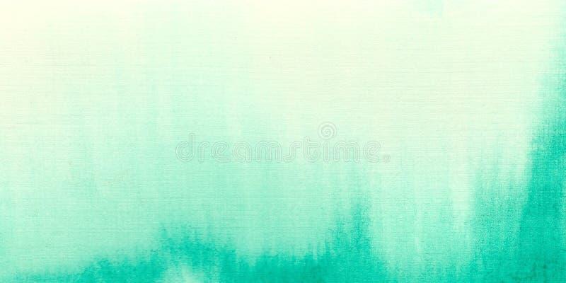水彩绿色背景 开放设计和邀请的理想 水彩天空 库存例证
