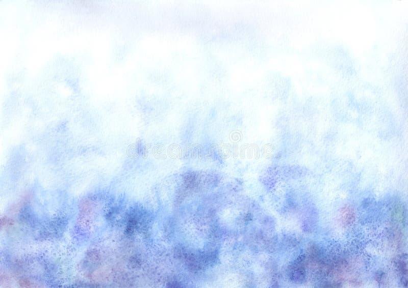 水彩背景蓝色 库存照片