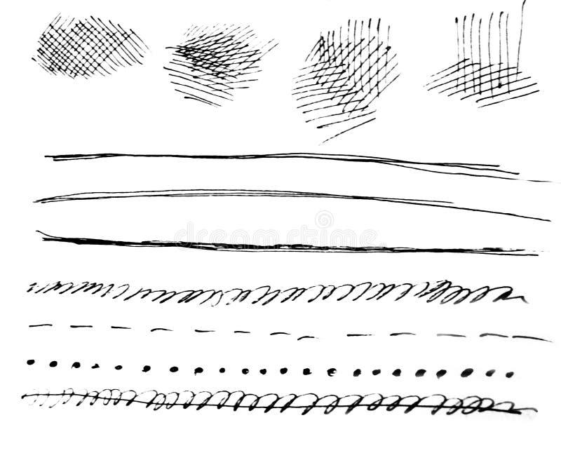 水彩艺术  在水彩纸的交通事故多发地段 查出 在白色背景的抽象灰色斑点 墨水下落 灰色 向量例证