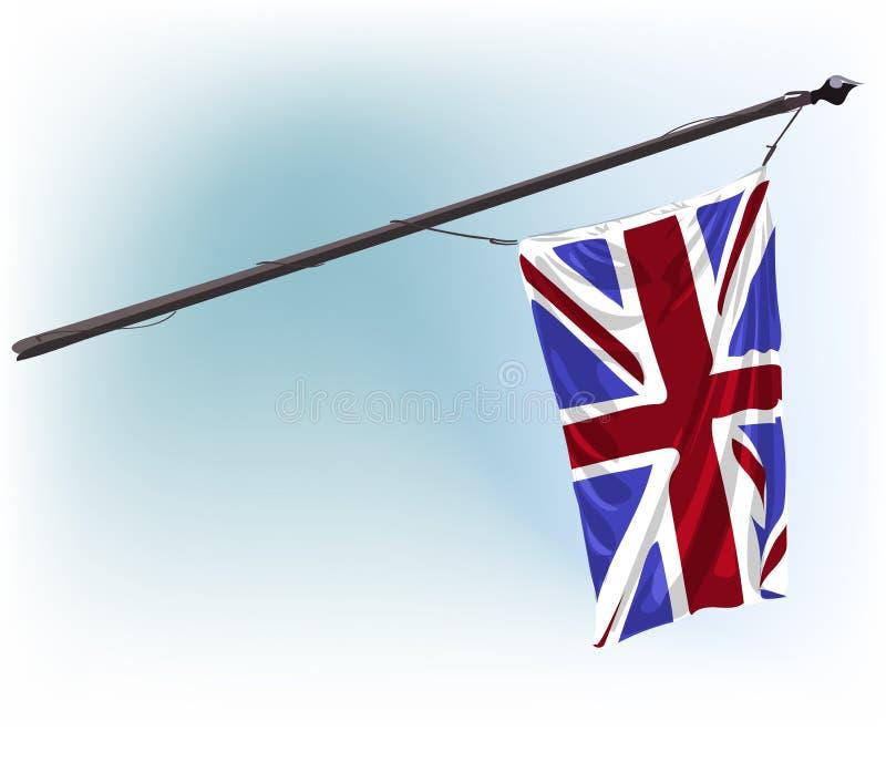 水彩英国旗子水彩油漆传染媒介illuatration剪贴美术 库存例证