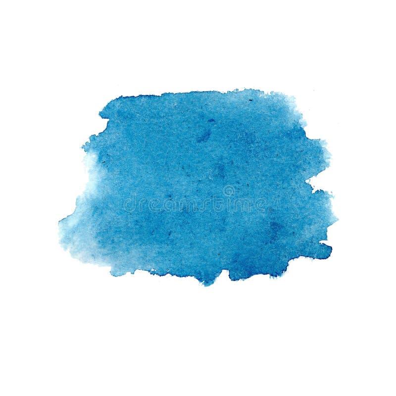 水彩蓝色抽象被隔绝的背景 库存例证