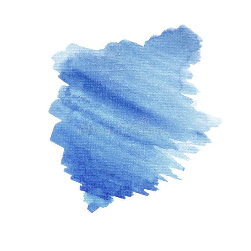 水彩蓝色斑点背景 免版税图库摄影
