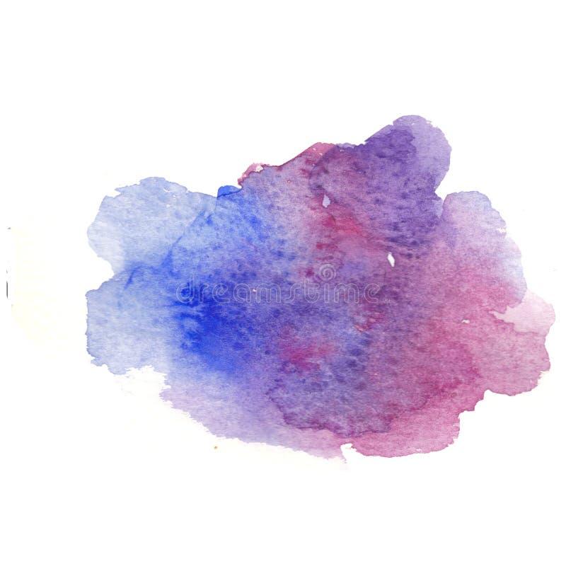 水彩蓝色紫色飞溅,蓝色紫色飞溅,蓝色紫色水彩飞溅 库存例证