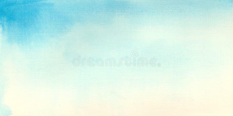 水彩蓝色背景水彩天空 皇族释放例证