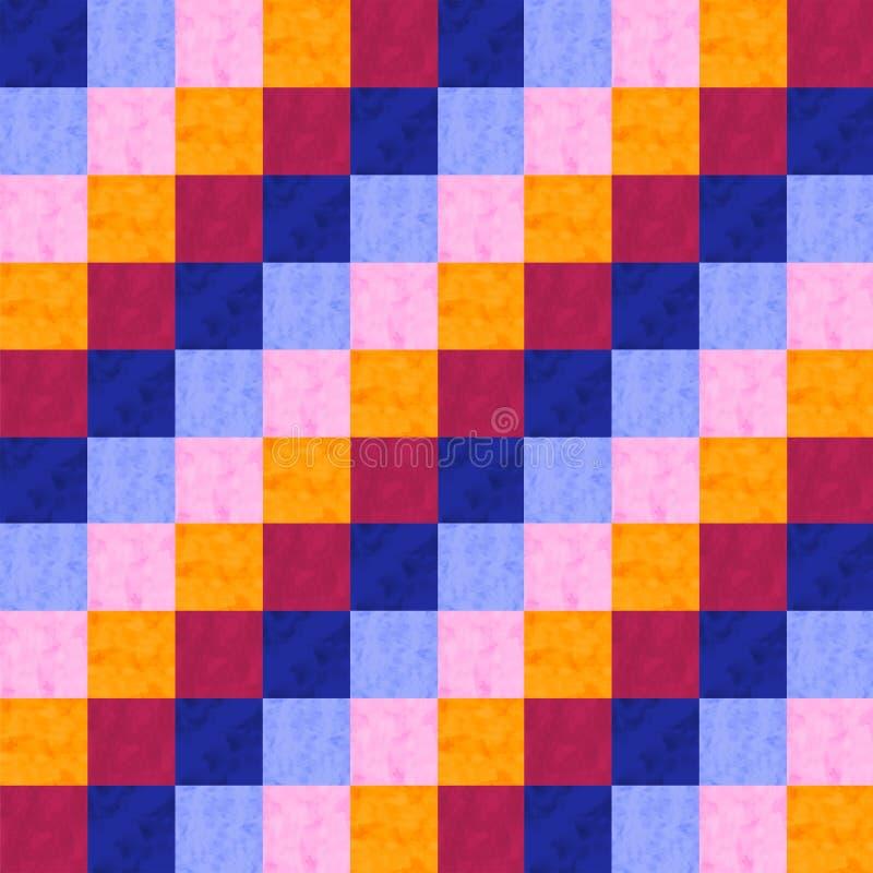 水彩补缀品种族无缝的样式 在水彩样式的几何装饰品 免版税库存图片