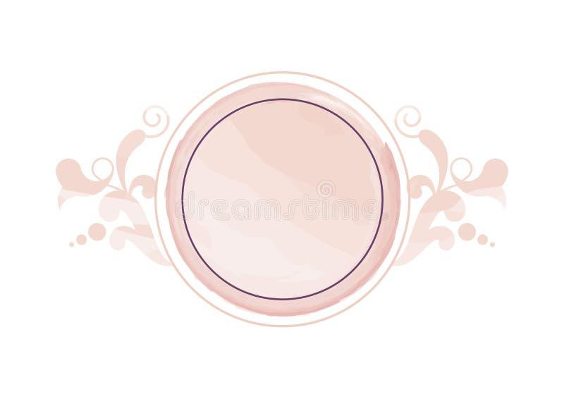 水彩裸体花卉商标传染媒介 皇族释放例证