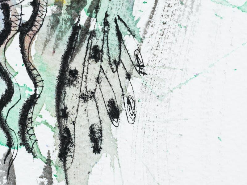 水彩颜色和纹理在纸的 皇族释放例证