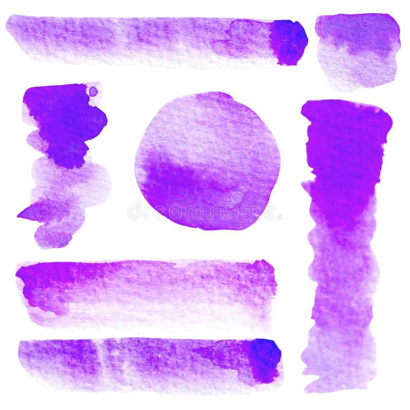 水彩颜色斑点 向量例证