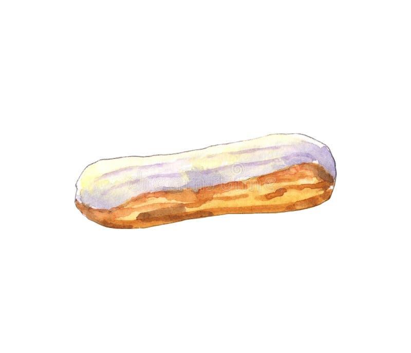 水彩香草小饼 皇族释放例证