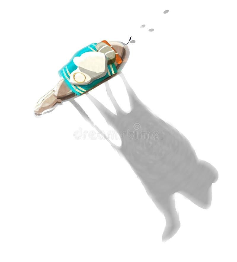 水彩骆驼和车手 皇族释放例证