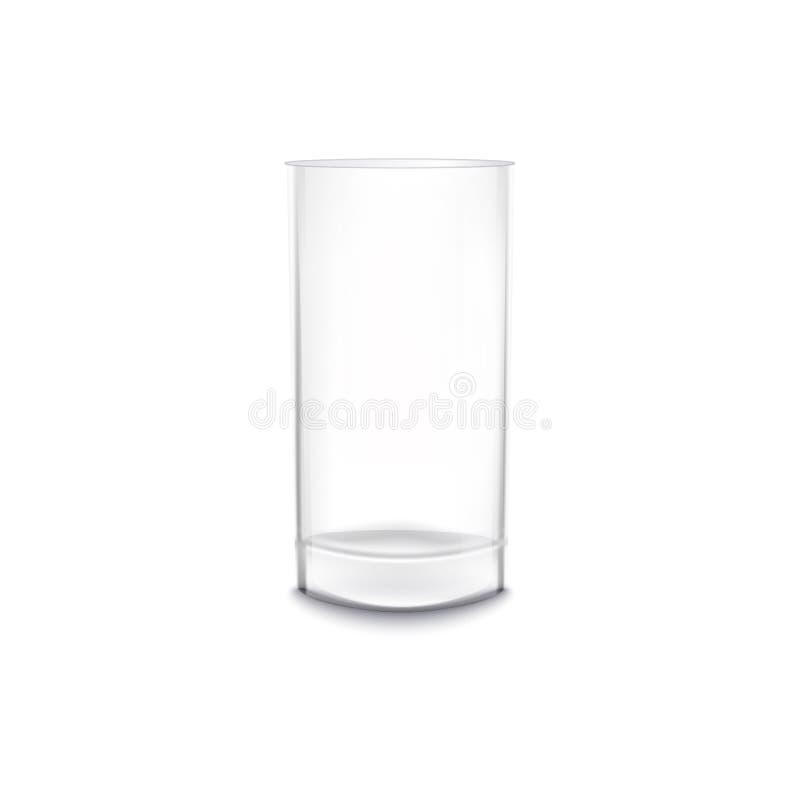 水或酒精现实传染媒介大模型例证隔绝的饮料玻璃 向量例证
