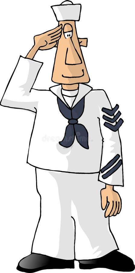水手 向量例证