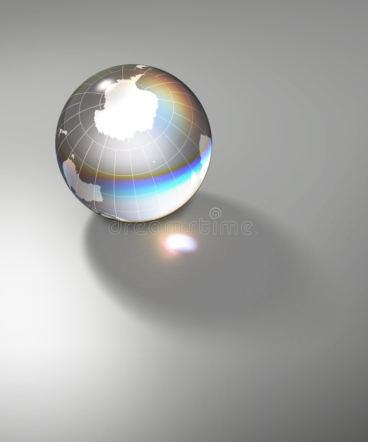 水晶世界地球南极 库存例证
