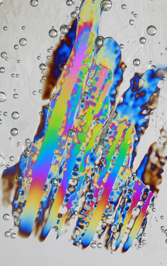 水晶冰熔化 免版税库存照片