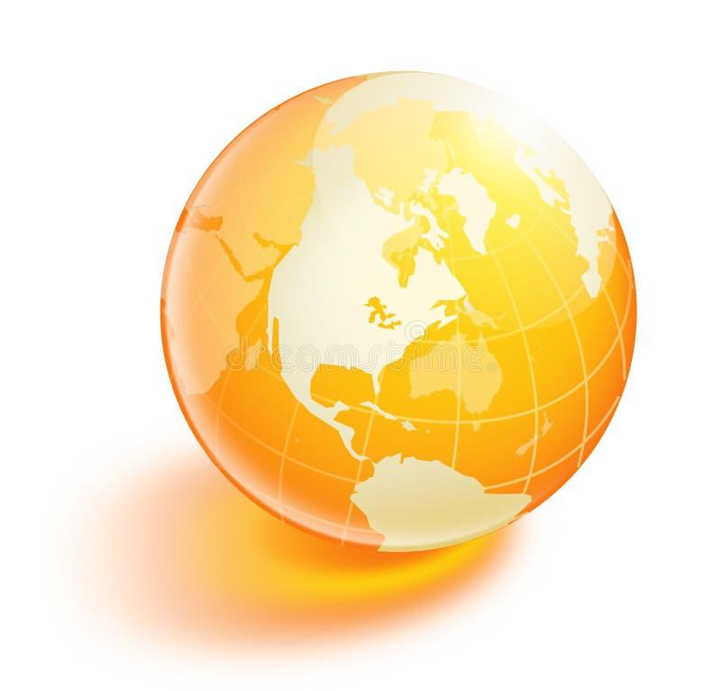 水晶地球桔子 库存照片