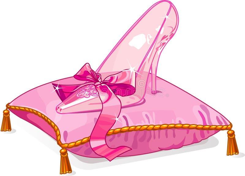 水晶拖鞋 库存例证