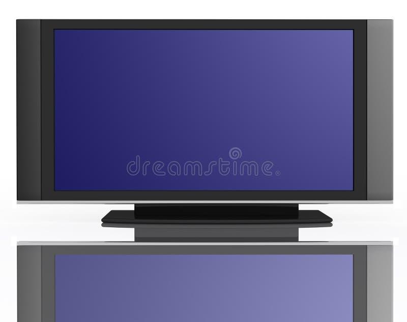 水晶显示平面的lcd液体电视 皇族释放例证