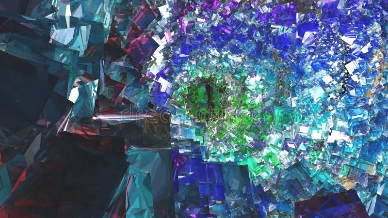 水晶洞 向量例证