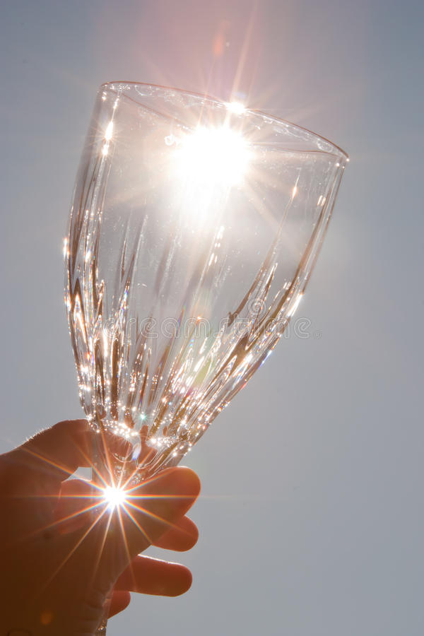 水晶玻璃线索酒 免版税图库摄影